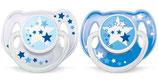 Philips Avent Nuggis Nacht, blau, 6-18 Monate, Doppelpack
