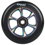 Chilli wheel TURBO black PU/ rainbow core 110mm
