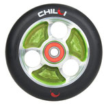Chilli wheel parabol black PU / green core 100mm