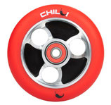 Chilli wheel parabol red PU / black core 100mm