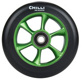 Chilli wheel TURBO black PU/ green core 110mm