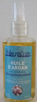 Huile d'argan bio Géranium Bourbon 100ml