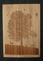 Bambus-Postkarte Ahorn