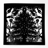 Weihnachtsbaum gelasert