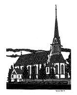 Scherenschnittkarte Pfarrkirche Ennetbürgen