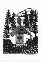 Scherenschnittkarte Steinstössi-Kapelle  Beckenried