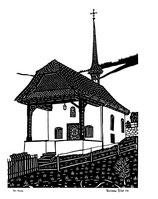 Scherenschnittkarte St. Anna Beckenried