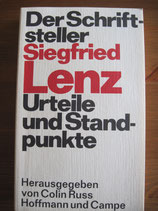 Colin Russ (Hrsg.): Der Schriftsteller Siegfried Lenz. Urteile und Standpunkte