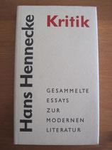 Hans Hennecke: Gesammelte Essays zur modernen Literatur
