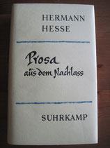 Hermann Hesse: Prosa aus dem Nachlass