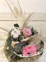 Vintage Infinity Love Strauß - metallic pink -