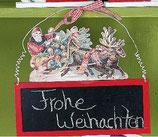 Tafelaufhänger Weihnachtsszene