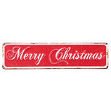 """Blechschild """"Merry Christmas"""" von Clayre & Eef"""