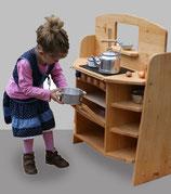 Kinderküche CULINA von SCHÖLLNER: Beidseitig bespielbar und höhenverstellbar :-)