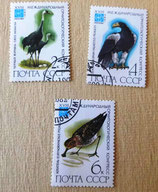 3 Briefmarken - Vögel - UdSSR 1982