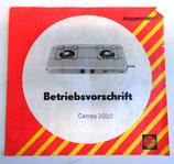 Betriebsvorschrift Campy 2000 - VEB Waschgerätewerk Schwarzenberg