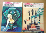 2er Set Roman-Zeitung - Verlag Volk und Welt Berlin - 80er Jahre