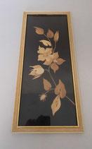 Wandbild - Blumen aus Holz