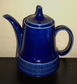 Schöne blaue Kaffeekanne