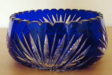 Große Kristallschale in Blau (#3)