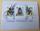 Briefmarkenbogen - Leipziger Herbstmesse 1988 - DDR