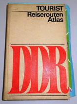 Tourist Reiserouten Atlas mit Ungarn-Karte - DDR