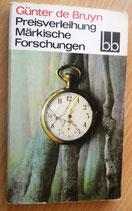 Günter de Bruyn - Preisverleihung/Märkische Forschungen - Abenteuerroman