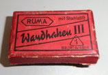 Kleine alte Pappschachtel - RUMA Wandhaken III - Reklame