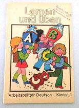Lernen und üben - Arbeitsblätter Deutsch Klasse 1 - DDR