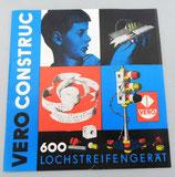Vero Construc 600 - Lochstreifengerät - Broschüre * Bedienungsanleitung