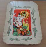 Weihnachtsteller - Pappteller - DDR
