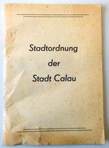 Stadtordnung der Stadt Calau - 1987
