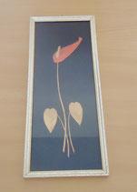 Wandschmuck - filigranes Holzbild - Flamingoblume