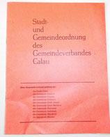 Stadt- und Gemeindeordnung des Gemeideverbandes Calau - 1985