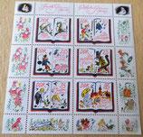 Briefmarkenbogen - Jacob und Wilhelm Grimm - Märchen - DDR