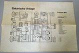 Elektrische Anlage Trabant 601 - Anschlussplan für alle Varianten