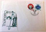 """Briefumschlag """"Thüringer Glas"""" mit Briefmarken - 1983"""