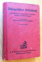 Bürgerliches Gesetzbuch mit Einführungsgesetz und 25 ergänzenden Gesetzen und Verordnungen 1942