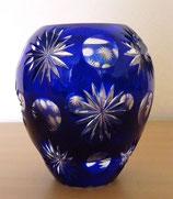 Kleine Kristallvase in Blau - schwer (#5)