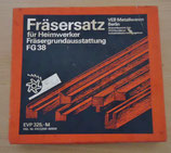 Fräsersatz für Heimwerker zur Holz- und Plastbarbeitung - DDR