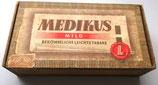 Alte Zigarrenschachtel aus Holz - Medikus mild Bekömmliche leichte Tabake 1963