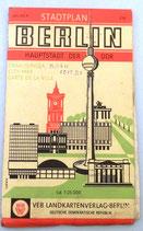 Stadtplan Berlin - Hauptstadt der DDR - VEB Landkartenverlag Berlin