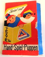 Spiel mit - Texte für Hand-Spiel-Puppen