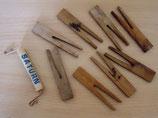 Alte Wäscheklammern aus Holz