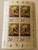 Briefmarkenbogen - Thomas-Müntzer-Ehrung 1989 - DDR