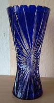 Kristallvase - Blau - Bleikristall - DDR