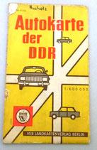Autokarte der DDR - VEB Landkartenverlag Berlin - Nr. V/120