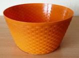Blumenübertopf in Orange - Plastik - Hels