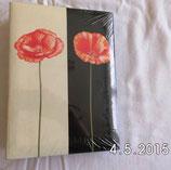 Fotoalbum - Einsteckalbum - schwarz/weiß mit Blume - hama
