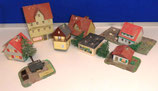 Set aus Häusern für die Modelleisenbahn - DDR